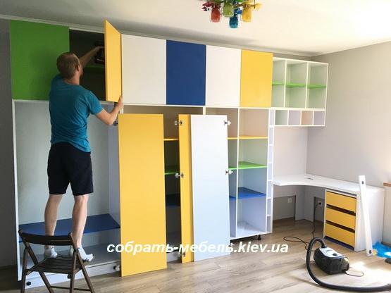 установка мебельных дверей
