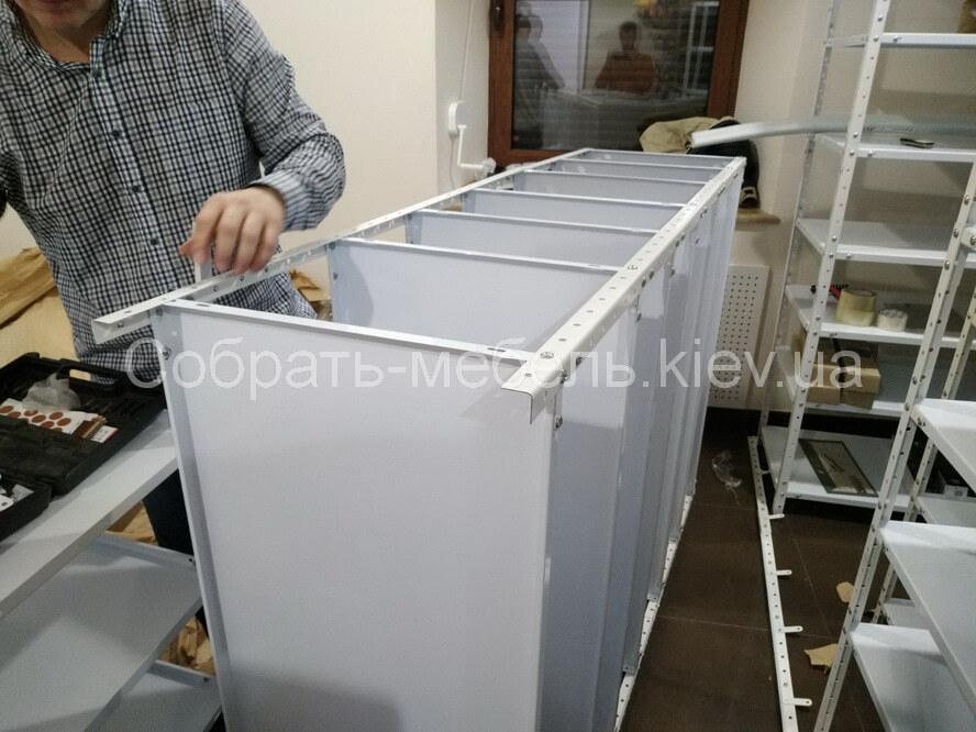 сборка металлических стеллажей цена